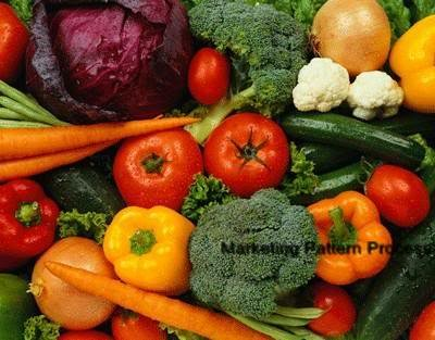Vegetable Bin Cross Stitch Pattern Food Broccoli Peppers Carrots ETP