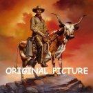 Cowboy On Steer Cross Stitch Pattern Western ETP
