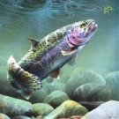 Rainbow Trout Grass Hoppin' Cross Stitch Pattern Fish ETP