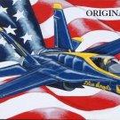 Navy Blue Angel Cross Stitch Pattern Military Patriotic ETP