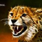 Cheetah Fire Cross Stitch Pattern Cats ETP