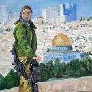 Watching Over Jerusalem Cross Stitch Pattern Jewish ETP