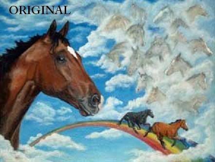 Barbaro In Heaven Cross Stitch Pattern Thoroughbred Horses ETP