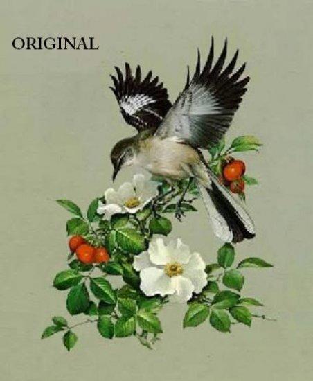 Mockingbird Cross Stitch Pattern Birds ETP