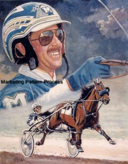 David Miller Harness Racer Cross Stitch Pattern Horses ETP