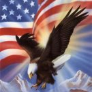 America's Pride Cross Stitch Pattern Eagle Flag ETP