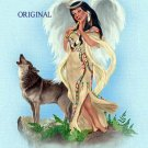 Indian Angel Cross Stitch Pattern Wolf ETP
