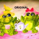 Frog Tea Party Cross Stitch Pattern ETP