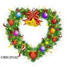 Heart Shaped Christmas Wreath Cross Stitch Pattern ETP
