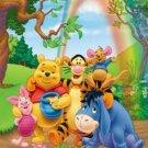 Winnie The Pooh Group Hug Cross Stitch Pattern