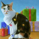 Christmas Cat Wrap Cross Stitch Pattern Cats ETP