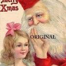 Victorian Santa Claus Cross Stitch Pattern Christmas ETP