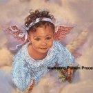 Little Angel Cross Stitch Pattern Dark Skinned African~American ETP