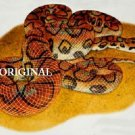 Brazilian Rainbow Boa Cross Stitch Pattern Snakes ETP