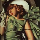 Art Deco Lady Cross Stitch Pattern Retro ETP