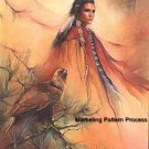 Indian and Eagle Cross Stitch Pattern Native American ETP