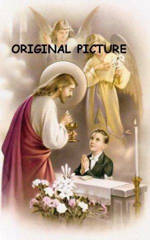 First Communion Boy Cross Stitch Pattern Catholic ETP