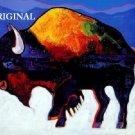 Buffalo Snow Cross Stitch Pattern Native American ETP