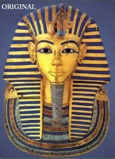 mask of king tut cross stitch pattern egyptian etp