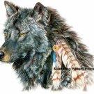 Indian Wolf Cross Stitch Pattern Native American ETP