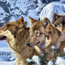 Snow Wolves Cross Stitch Pattern Dogs  ETP