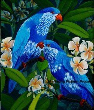 Ultramarine Lorikeets Cross Stitch Pattern Parrots Bird ETP