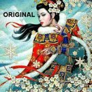 Oriental Winter Majesty CrossStitch Pat Japanese Geisha ETP