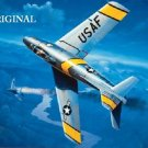 F-86 Sabre Cross Stitch Pat Air Force Military Aircraft ETP