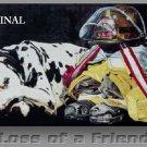 Loss of a Friend Cross Stitch Pattern Firemen Dalmation Dogs ETP