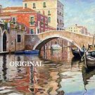 Venice Canal 1 Cross Stitch Pattern Italy ETP