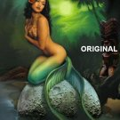 Hawaiian Mermaid Cross Stitch Pattern Tropical Fantasy ETP