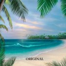 Hawaiian Beach Promenade Cross Stitch Pat Tropical ETP