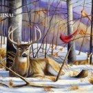 Deer in Winter Cross Stitch Pattern Elk ETP