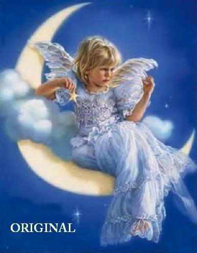 Girl in the Moon Cross Stitch Pattern Fantasy ETP