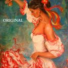 Hot Flamenco Cross Stitch Pattern Hispanic ETP