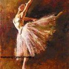 Ballerina in Pink Cross Stitch Pattern Ballet Dance ETP