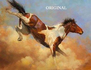 Kickin' Up Dust Cross Stitch Pattern Paint Horse ETP