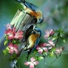 Spring Bluebirds Cross Stitch Pattern Birds