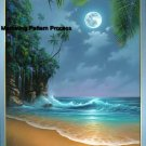 Tropical Moonrise Cross Stitch Pattern Islands ETP