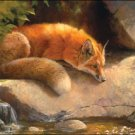 Fox By Stream Cross Stitch Pattern Dogs ETP