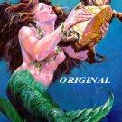 Mermaid w Turtle Cross Stitch Pattern Tropical Fantasy ETP
