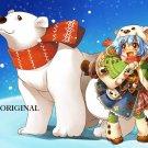 Polar Pals Cross Stitch Pattern Bears Cartoon ETP