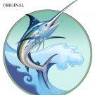 Marlin Leaping Cross Stitch Pattern Sport Fish ETP