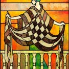 Art Deco Balcony Stained Glass Cross Stitch Pattern ~ETP~