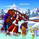 Beauty and the Beast 4 Cross Stitch Pattern Belle Disney ~ETP~