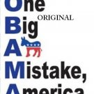 O~B~A~M~A Mistake America Cross Stitch Pattern ~ETP~