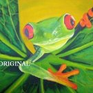 Red Eyed Tree Frog 3 Cross Stitch Pattern ~ETP~
