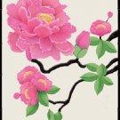 Oriental Peony Cross Stitch Pattern ~ETP~