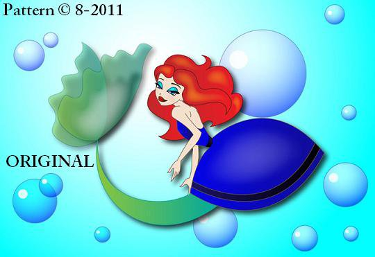 Little Mermaid Cross Stitch Pattern Disney ~ETP~