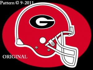 Georgia Bulldogs Helmet Cross Stitch Pattern Football ~ETP~